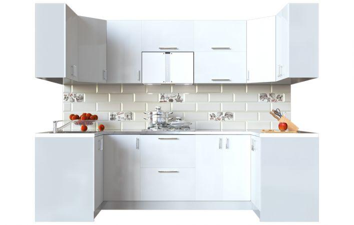 Фото Кухня кутова Мода ВІП мастер • МДФ • 270х120 см • Фасад Лайт + Корпус Сірий металік Розпродажна позиція - SOFINO.UA