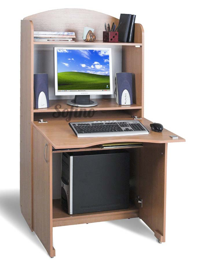 Фото Компьютерный стол БЮРО Б-1 «Престиж» меламин Тіса Меблі - sofino.ua