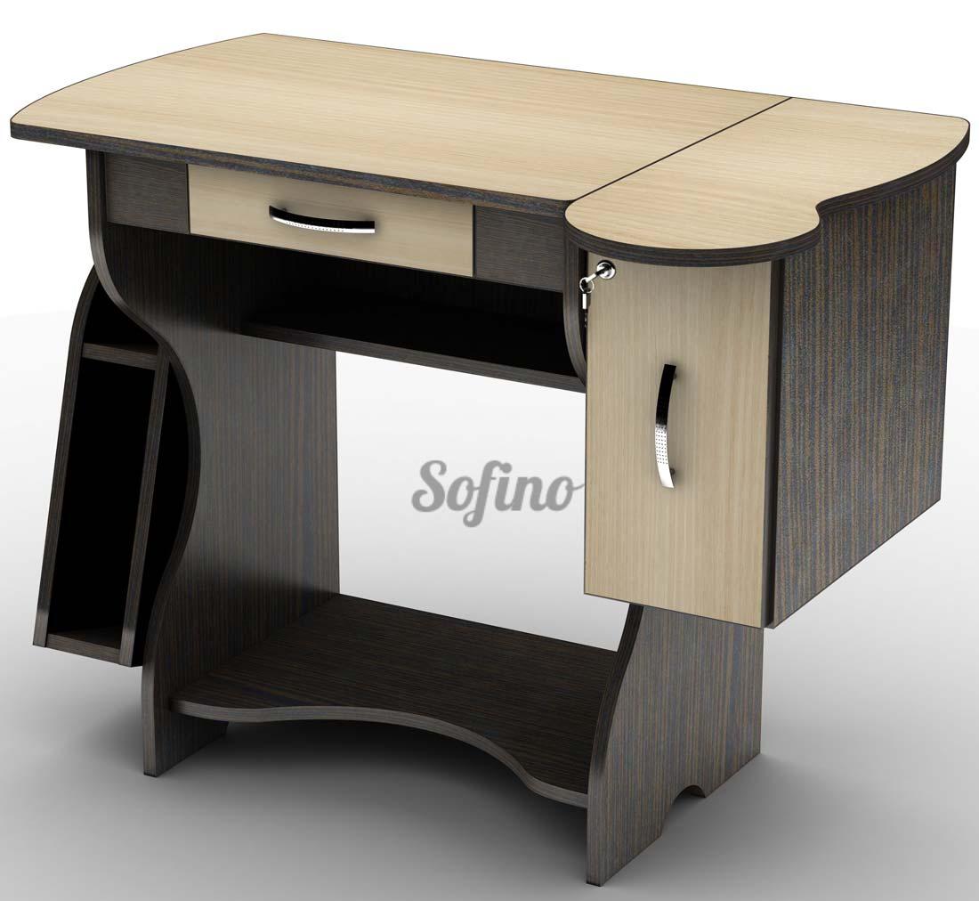 Фото Письменный стол СУ-2 «Универсал» меламин Tisa mebel - sofino.ua