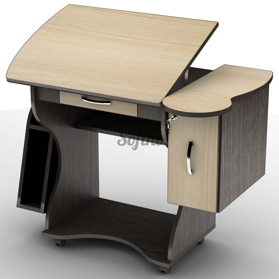 Фото Письменный стол СУ-2 К «Универсал» меламин Тіса Меблі - sofino.ua