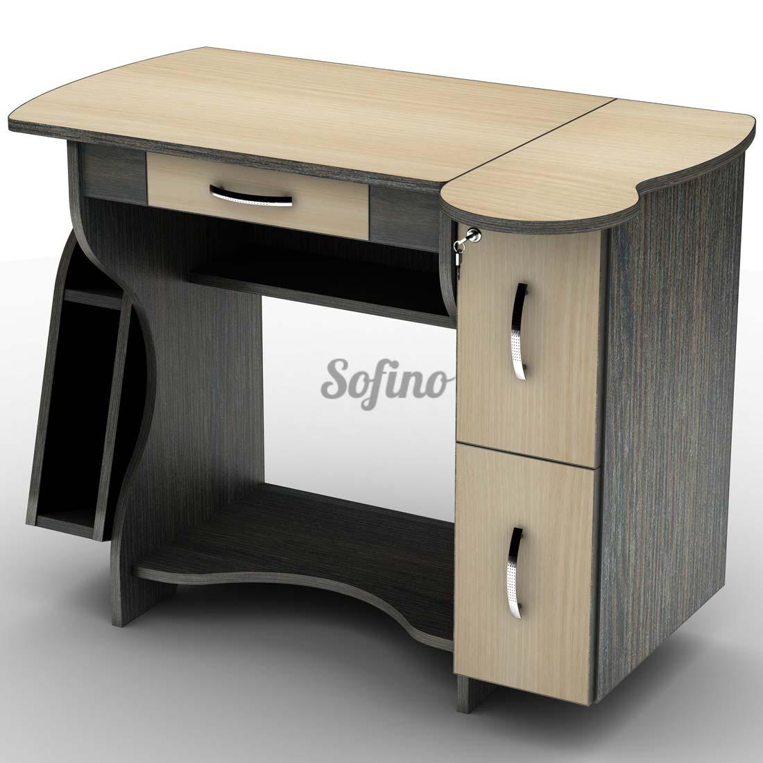 Фото Письменный стол СУ-3 «Универсал» меламин Тіса Меблі - sofino.ua
