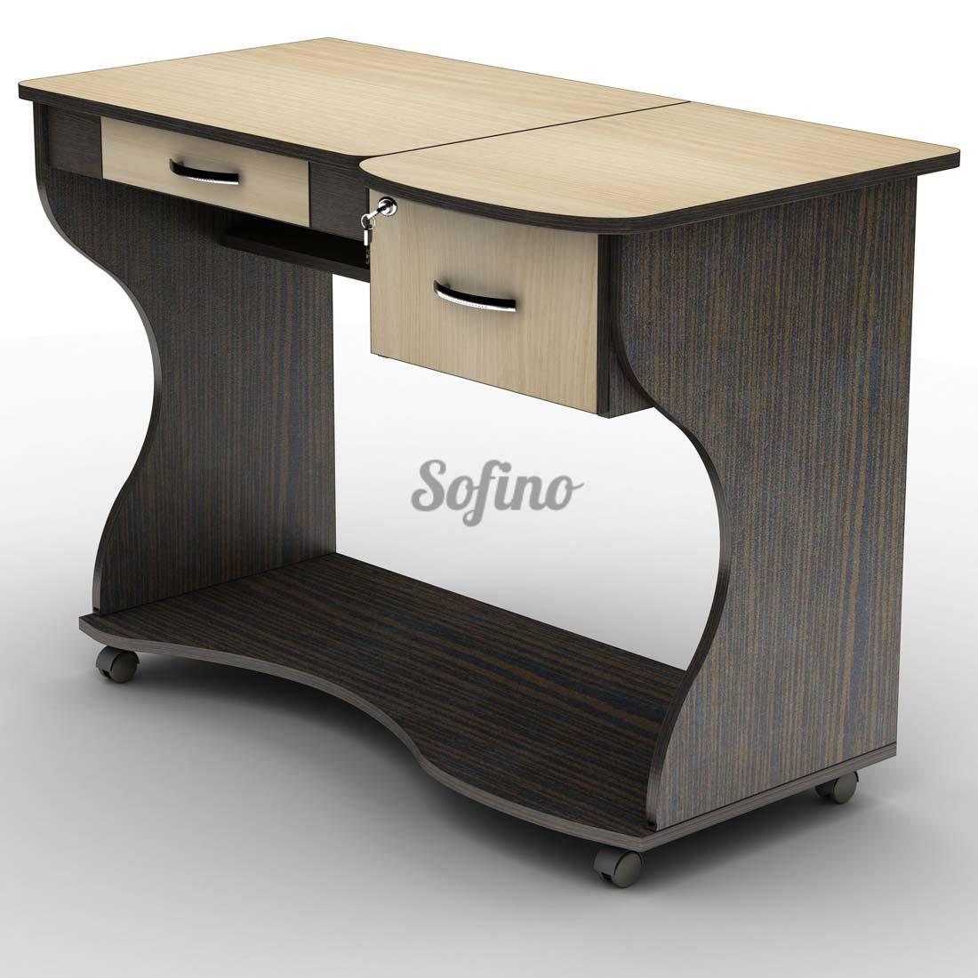 Фото Письменный стол СУ-5 К «Универсал» меламин Tisa mebel - sofino.ua