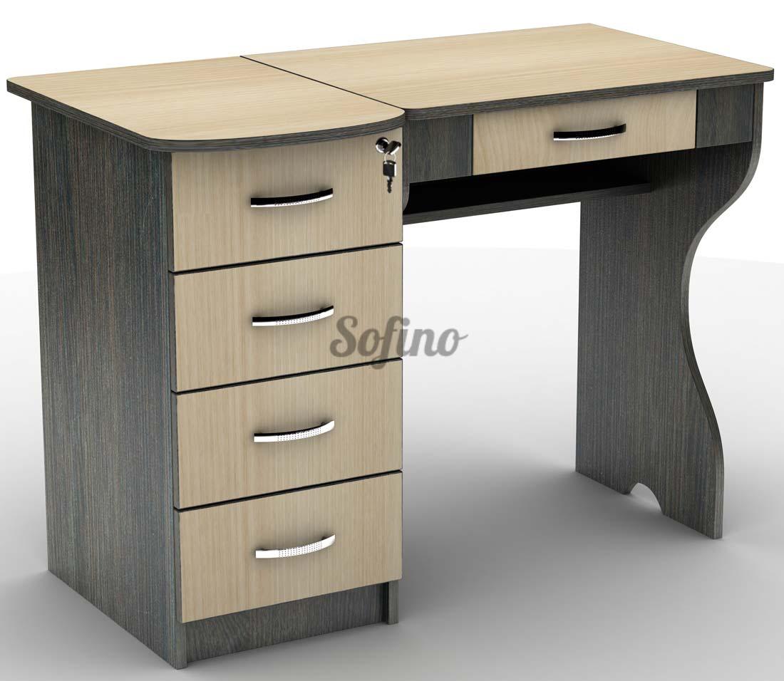 Фото Письменный стол СУ-6 «Универсал» меламин Тіса Меблі - sofino.ua