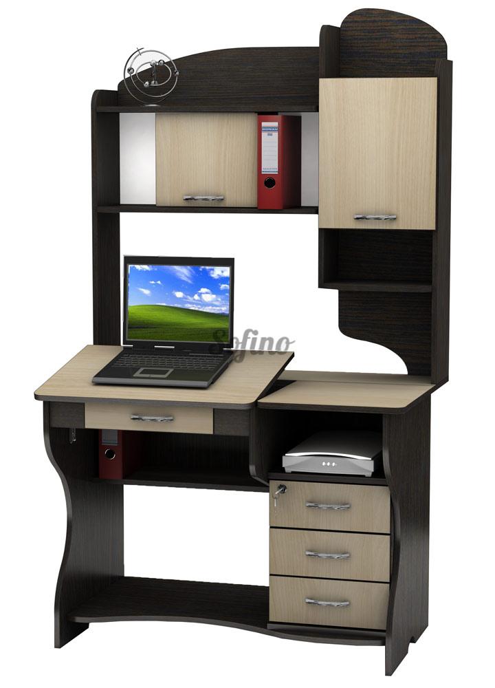 Фото Компьютерный стол СУ-7 «Универсал» меламин Tisa mebel - sofino.ua
