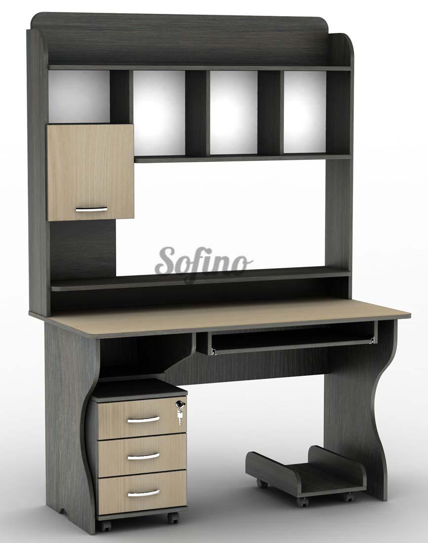 Фото Компьютерный стол СУ-10 «Универсал» меламин Тіса Меблі - sofino.ua