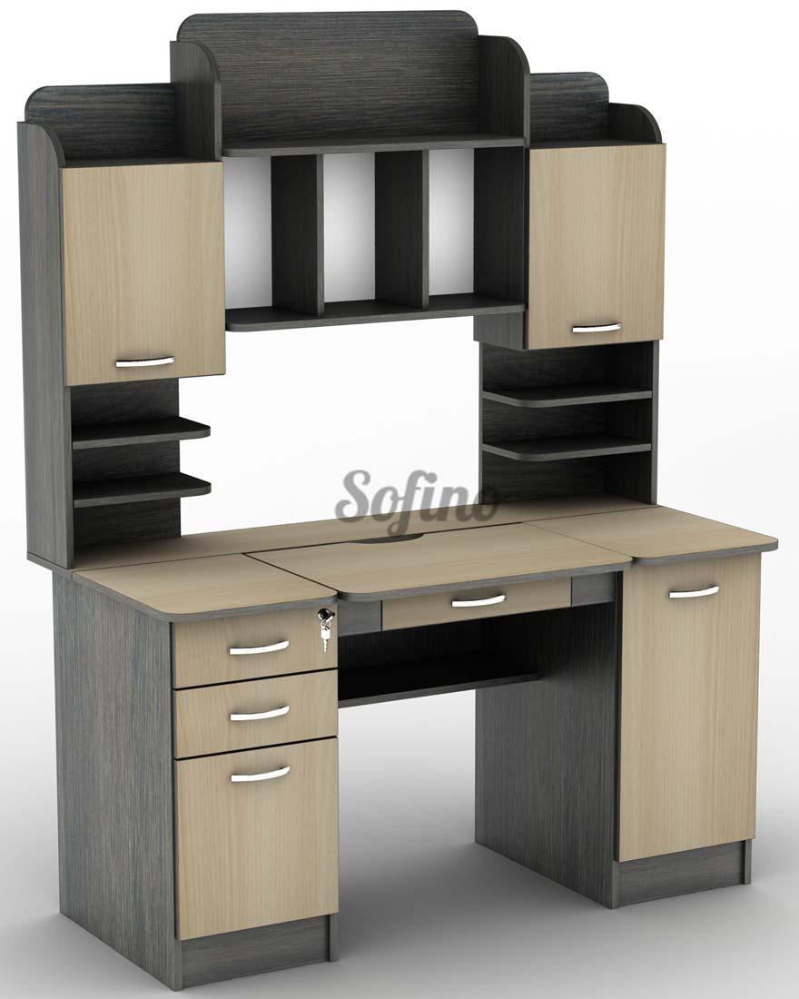 Фото Компьютерный стол СУ-13 «Универсал» меламин Tisa mebel - sofino.ua