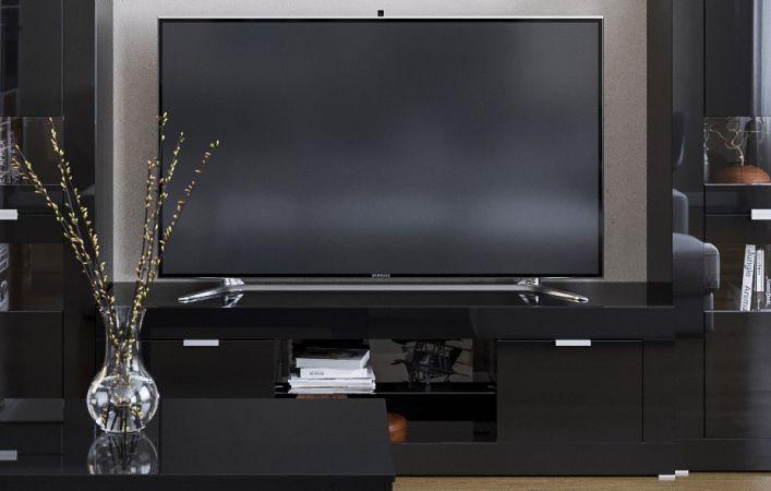 Фото Тумба під телевізор Прага Світ меблів • 180х52х45 • Чорний Розпродажна позиція - SOFINO.UA