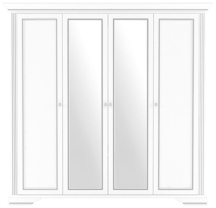 Шкаф 4D(2S) «Вайт» | Сосна серебренная