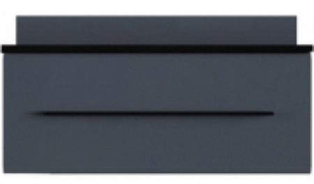 Фото Тумба РТВ 90 «Милан» Черный | Серый гранит глянец Gerbor | BRW - sofino.ua