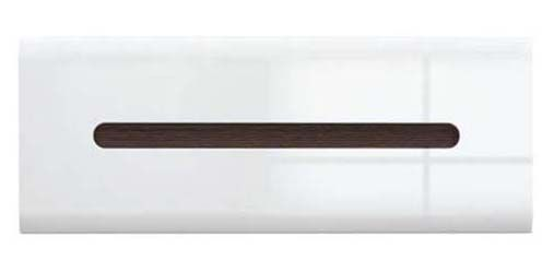 Шкаф навесной SFW_1K/4/11 «Ацтека» | Нимфея Альба | Белый глянец