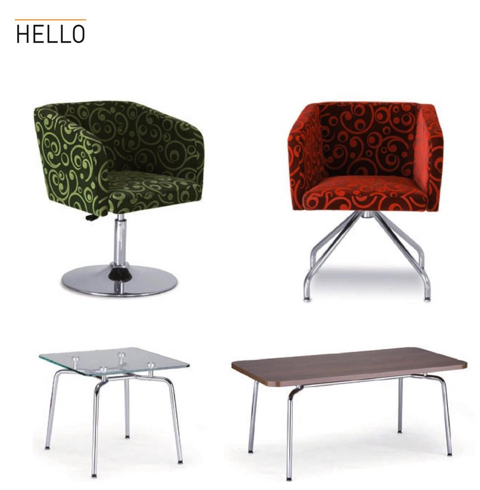 Фото Стол «HELLO table duo chrome GL»  - sofino.ua