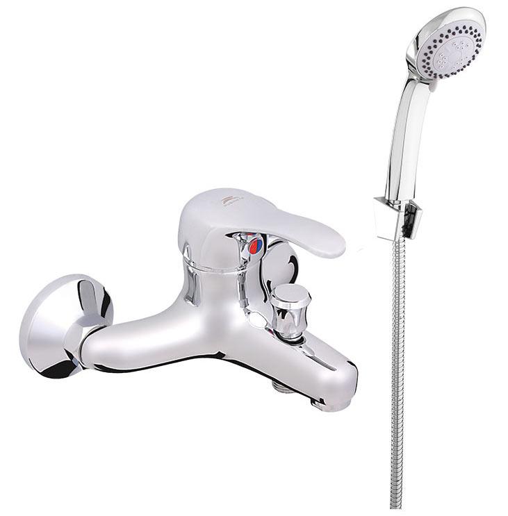 Фото Смеситель для ванны P10K04 «P-10/K Gala» корпус - монолит, лейка шланг Rubineta - sofino.ua