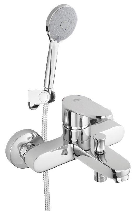 Смеситель для ванны A10A08 «Static-10» корпус - монолит, лейка шланг