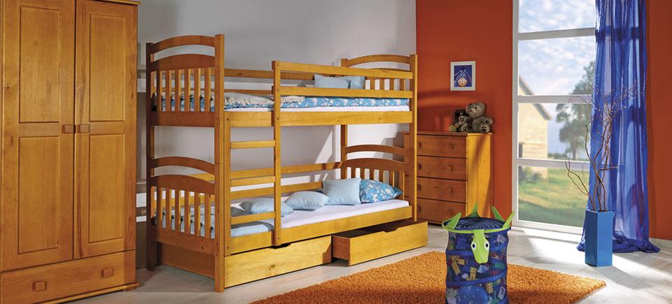 Фото Двухъярусная кровать «Ирек» 80*190 Dolmar - sofino.ua