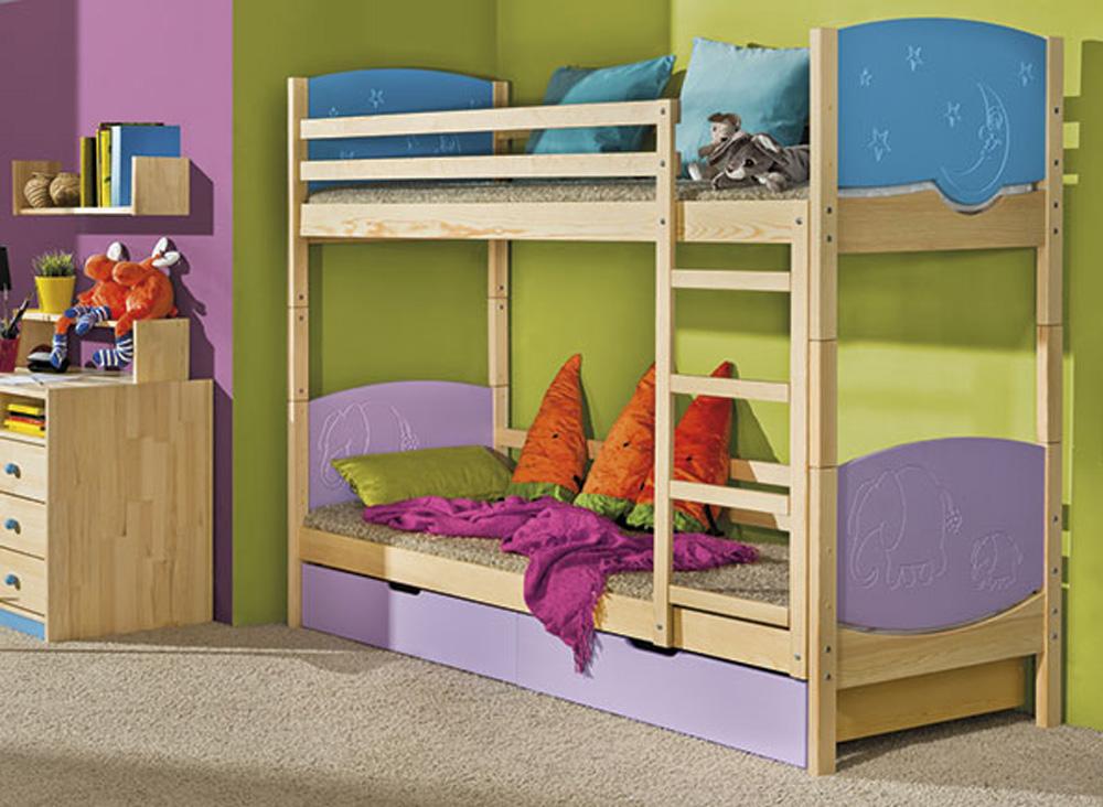Фото Двухъярусная кровать «Трио» 80*190 Dolmar - sofino.ua