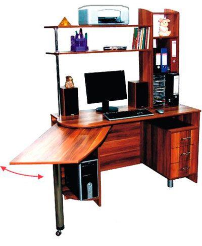 Фото Компьютерный стол «Протеус» NIKA мебель - sofino.ua