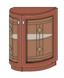 Тумба-бар полукруглая низ 600 2Д витраж «Юля»
