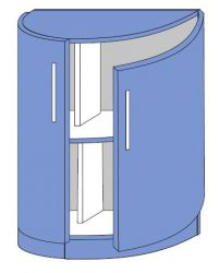 Тумба бар полукруглая низ 600 2Д «Юля Модерн»