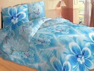 Комплект «Цветок голубой» двуспальный