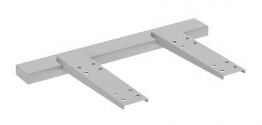 Одинарный подвесной элемент для крепления стола к тумбе MN551 «Megan»