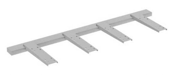 Двойной подвесной элемент для крепления стола к тумбе MN552 «Megan»
