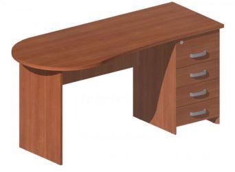 Стол с тумбой М232 P «Mega» 160
