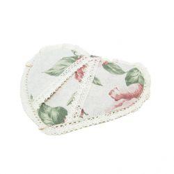 Прихватка-сердце «large pink Rose»