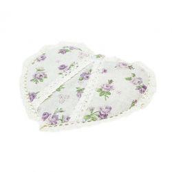 Прихватка-сердце «Lilac Rose»