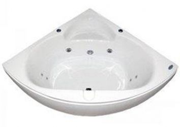 Ванна угловая «002305» гидромассаж + пневмокнопка 140*140
