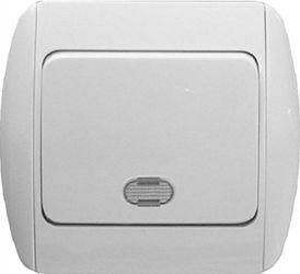 Выключатель 811L«s035001» одноклавишный с подсветкой