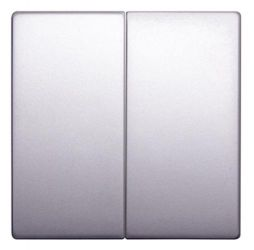Клавиша e.lux.11021L.pn.aluminium «ins0040096» двойная