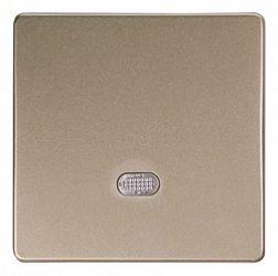 Клавиша e.lux.11171L.pn.l.nickel «ins0040015» одинарная с подсветкой