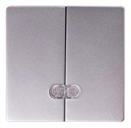 Клавиша e.lux.11881L.pn.aluminium «ins0040097» двойная с подсветкой