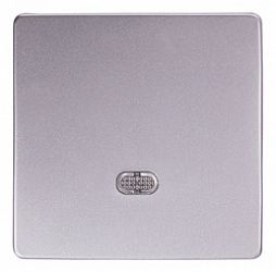 Кнопка e.lux.11651L.pn.aluminium «ins0040099» одинарная с подсветкой