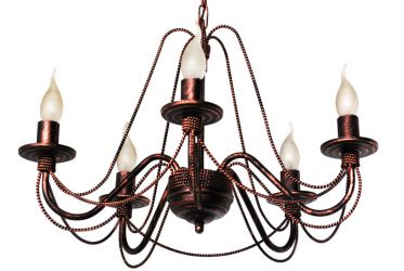 Люстра 349870 «Косички» темная 5 ламп