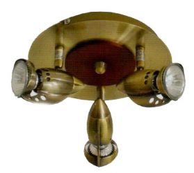 Спот 98782 НПБ 01-3х50-474, 3х50 Вт, GU10, бронза, дерево
