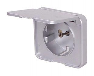 Панель для влагозащищенной розетки e.lux.12391А.pn.wp.aluminium «ins0040083»