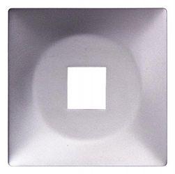 Панель для одинарной розетки e.lux.16111L.pn.aluminium «ins0040100»