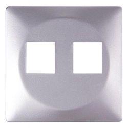 Панель для двойной розетки e.lux.16121L.pn.aluminium «ins0040101»