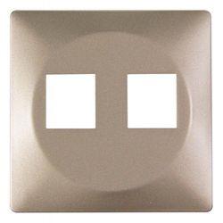 Панель для двойной розетки e.lux.16121L.pn.nickel «ins0040031»