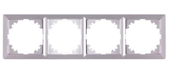 Рамка e.lux.10084L.4.fr.aluminium «ins0040092»