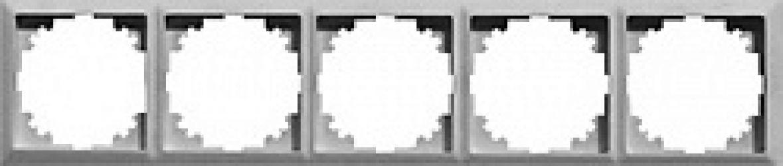 Рамка e.lux.10104L.5.fr.aluminium «ins0040093»