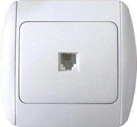 Розетка телефонная e.install.stand.814P1 «s035013»