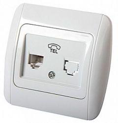 Розетка телефоннаяe.install.stand.814P1 «s035030» с рамкой