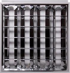 Светильник люминесцентный растровый e.lum.raster.flush.4.20.b «l001037»