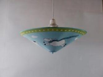 Лампа подвесная 31-43453 «Favola» голубой