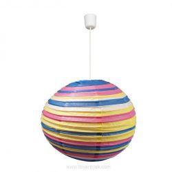 Лампа подвесная 31-16044 «Kokon» 40 бумага/розово-голубой