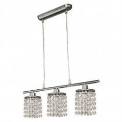 Лампа подвесная 33-28108 «Royal» хрусталики, хром/белый
