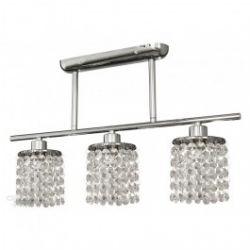 Лампа подвесная 33-28085 «Royal» хрусталики, хром/белый