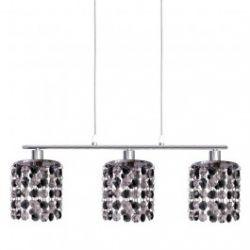 Лампа подвесная 33-35885 «Royal» хрусталики, хром/черный